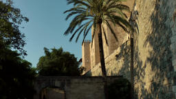 Spain Palma de Mallorca 105 sunset light on the old city wall Footage