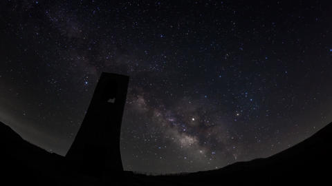 Night starry sky (Utsukushigahara plateau) Milky way 影片素材