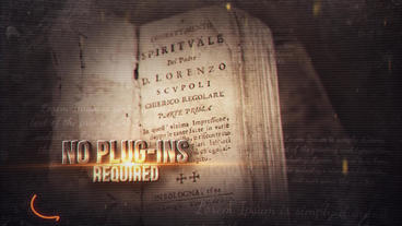 Golden History After Effects Templates