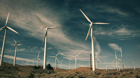Large Wind Farm California Footage