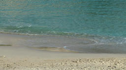 Spain Mallorca Island small town Porto Cristo 015 shallow water on white sands Footage