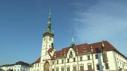 City Hall in Olomouc, Central Moravia Footage