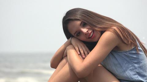 Girl Teenager Relaxing Footage