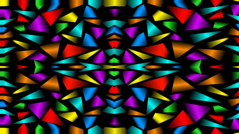 Seamless loop abstract video background with multicolored fragments, kaleidoscop Animation