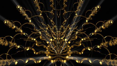 Gold Spring 4K 02 Vj Loop Animation
