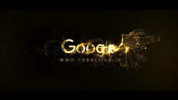 Gold Particles Logo Template After Effect