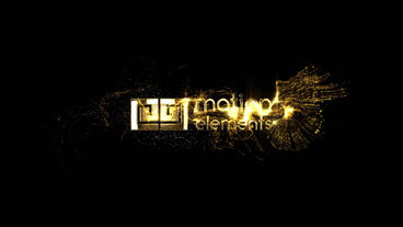 Gold Particles Logo After Effects Template