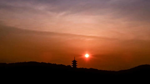 Timelapse-Five Storeyed Pagoda in the morning sun-CZ ビデオ