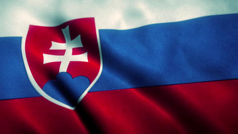 Slovakia Flag Blowing in the Wind Animation