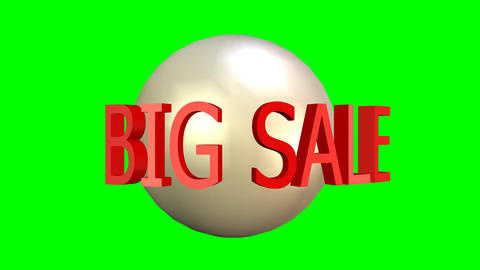 Big sale video advertising banner. Bomb explosion, rotating text, discount up to