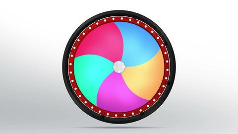 Black fortune wheel of 5 area twirl 4K Animation
