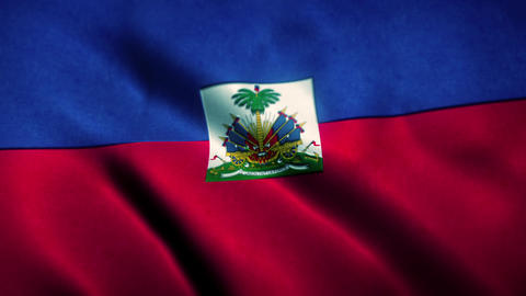 Haiti Flag Blowing in the Wind Animation