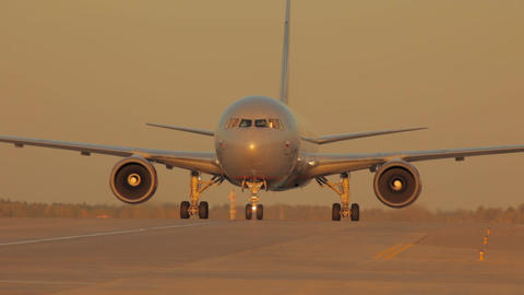 Passenger Jet Plane On The Runway Footage