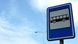bus stop - sign&symbol - lamp - blue sky Live Action