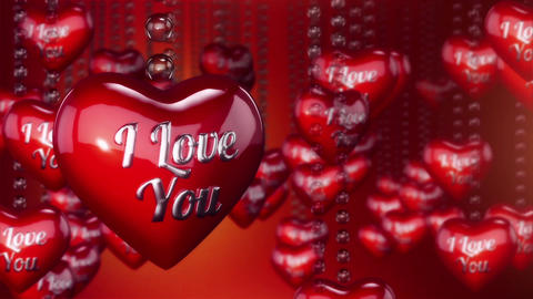 Hearts Background Animation for Valentines Day and Wedding Animation