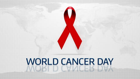 World Cancer Day stock footage