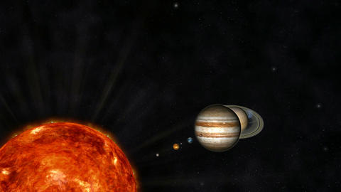 Animation of the Solar System Stock Video Footage