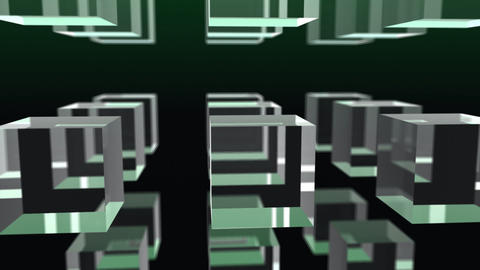 Glass Cubes Background Animation