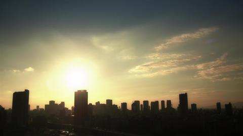 Umeda Skyline Light Timelapse stock footage