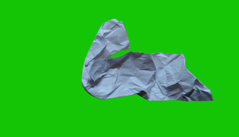 Green Screen Crumble Paper Animated stock footage