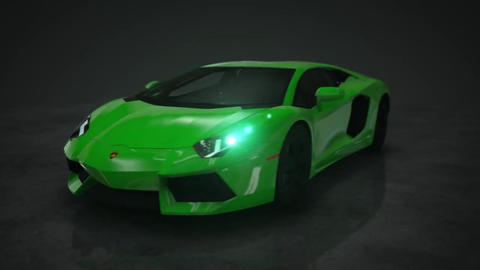 Lamborghini Aventador 360° HD Motion Background Animation