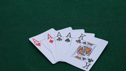 Four Aces Win stock footage