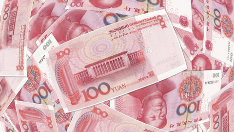 Bank Renminbi rmb yuan Chinese money banknote international economy currency Footage