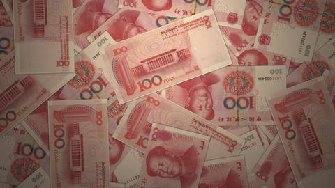 Bank Renminbi rmb yuan Chinese money banknote international economy currency Live Action