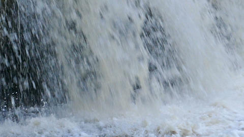 waterfall rocks, slow motion Stock Video Footage