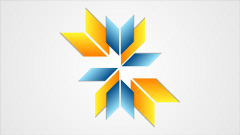 Tech star emblem logo video animation Animation