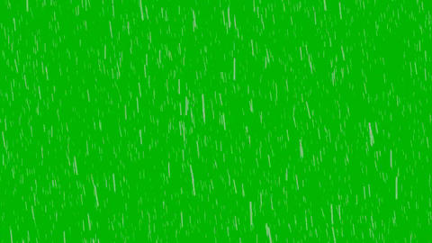 Rain Green Screen (Full HD) Animation