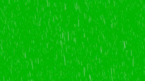 Rain Green Screen (Full HD) stock footage