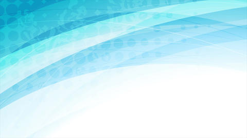 Blue abstract corporate grunge waves video animation Animation