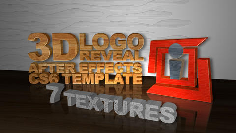 3D Text Logo reveal Intro After Effects Template