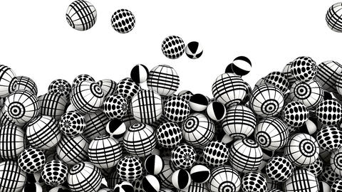 Abstract balls concept background Animation
