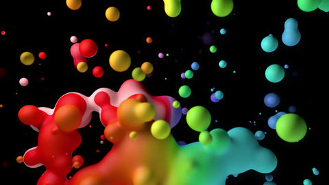 Background abstract rainbow multicolored liquid Animación