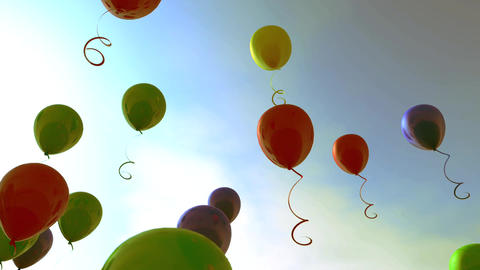 Fun party and celebration.Bunch of colorful balloons background Animación