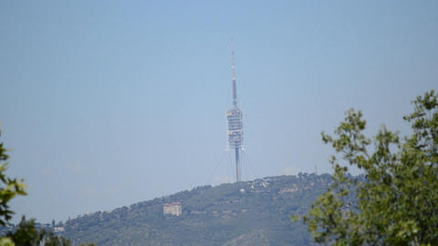 Radio And TV Old Tower On The Mountain Footage