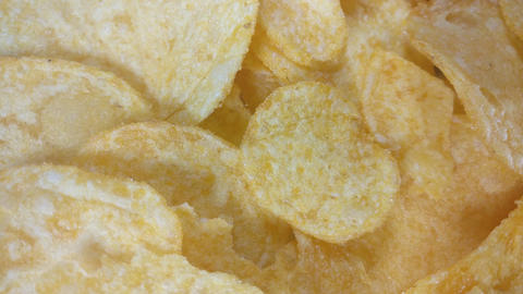 Crispy Potato chips Footage