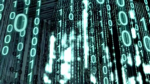 Screen binary background.Binary code backdrop Animation