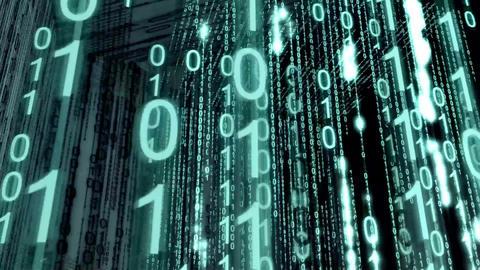 Screen binary background.Binary code backdrop Stock Video Footage