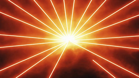 Orange Laser Beams Rays Motion Background Backdrop Stock Video Footage