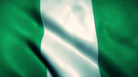 Nigeria Flag Blowing in the Wind Animation