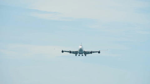 Passenger airplane approaching an airport Live Action