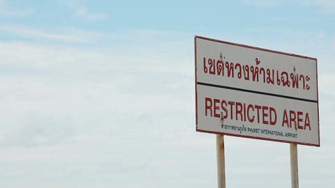 Restricted area sign Footage