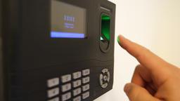 Fingerprint Employee Biometric Time Clock Footage