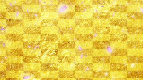 Gold cherry background CG