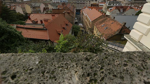 Breathtaking view on the rooftops and narrow streets of beautiful Zagreb city Footage