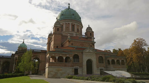 View on tomb of first Croatian president at Mirogoj cemetery in Zagreb Footage