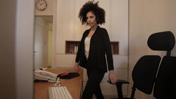 Mixed race model as manager at the office Footage